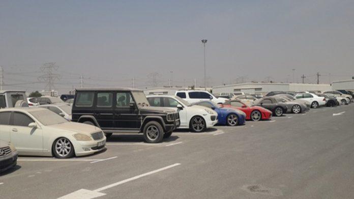Ajman Police Seized Vehicles