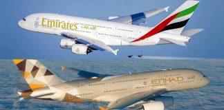 UAE Based Airlines Emirates Etihad Fly Dubai