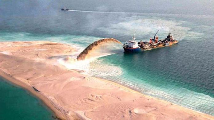 Construction Of Palm Jumeirah Dubai