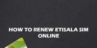 Etisalat Sim Registration Renewal Online 2022 Guide