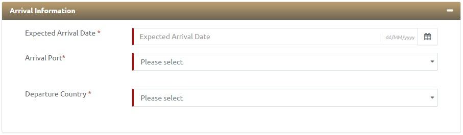 ICA UAE Arrival Information