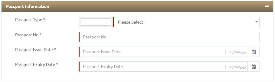ICA UAE REGISTER ARRIVAL Passport Information